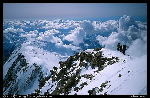 Upper section of West Buttress of Mt McKinley. Denali National Park (color)