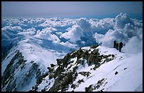 Upper section of West Buttress of Mt McKinley. Denali National Park, Alaska, USA. (color)