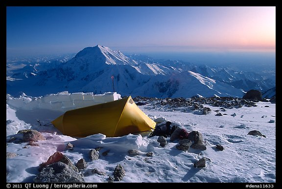 Balcony Camp, on the West Rib  of Mt McKinley. Denali National Park (color)