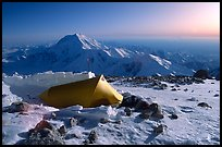 Balcony Camp, on the West Rib  of Mt McKinley. Denali National Park, Alaska, USA. (color)