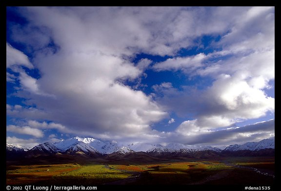 Alaska Range and sky, Polychrome Pass. Denali National Park (color)