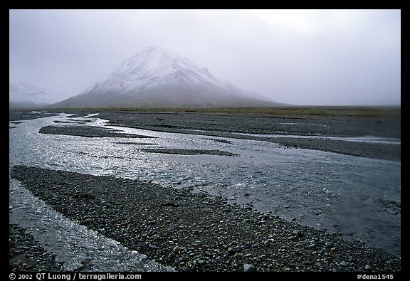 Gravel bars of the Toklat River. Denali National Park (color)