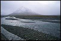 Gravel bars of the Toklat River. Denali National Park, Alaska, USA.