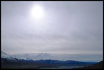 Halo above Alaska Range. Denali National Park ( color)
