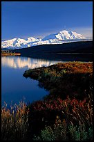 Mt Mc Kinley above Wonder Lake, evening. Denali National Park ( color)