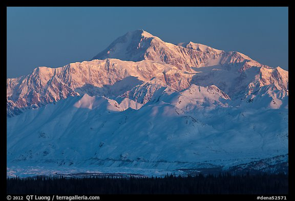 Denali, winter sunrise. Denali National Park (color)