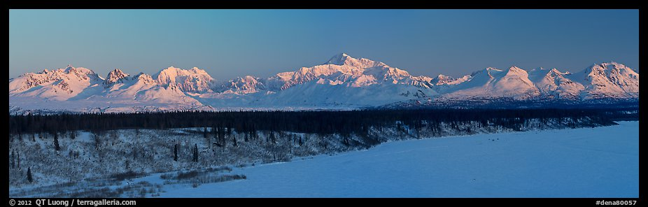Alaska range, winter sunrise. Denali National Park (color)