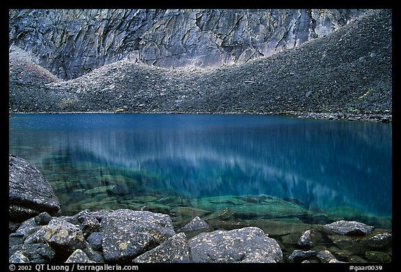 Lake I in Aquarius Valley near Arrigetch Peaks. Gates of the Arctic National Park, Alaska, USA.
