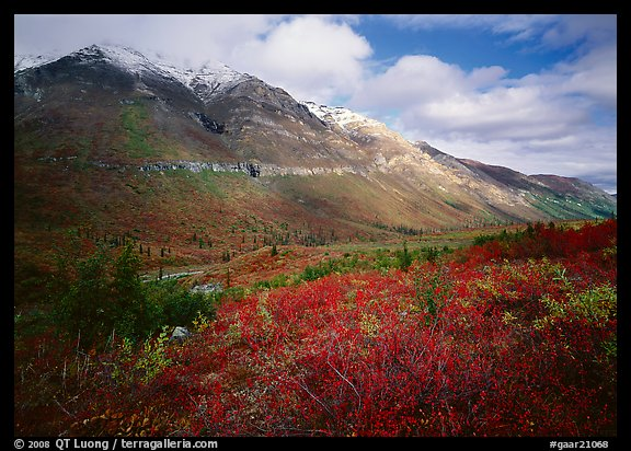 Tundra, valley, and mountains with fresh snow. Gates of the Arctic National Park (color)