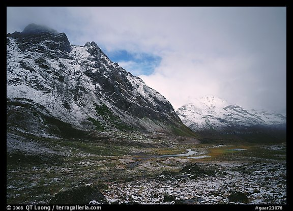 Valley and mountains, clearing storm. Gates of the Arctic National Park (color)