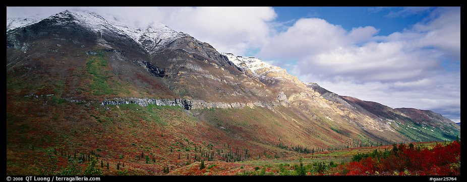 Brooks range peaks with fresh snow in autumn. Gates of the Arctic National Park (color)