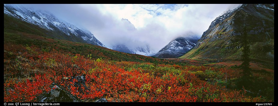 Brooks range landscape in the fall. Gates of the Arctic National Park (color)