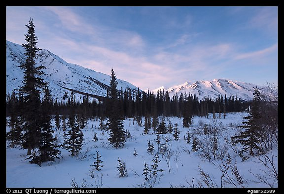 Brooks range, winter sunset. Gates of the Arctic National Park (color)