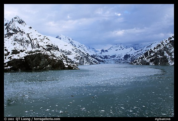 John Hopkins inlet with floating ice in late May. Glacier Bay National Park (color)