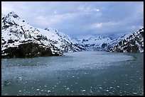 John Hopkins inlet with floating ice in late May. Glacier Bay National Park, Alaska, USA.