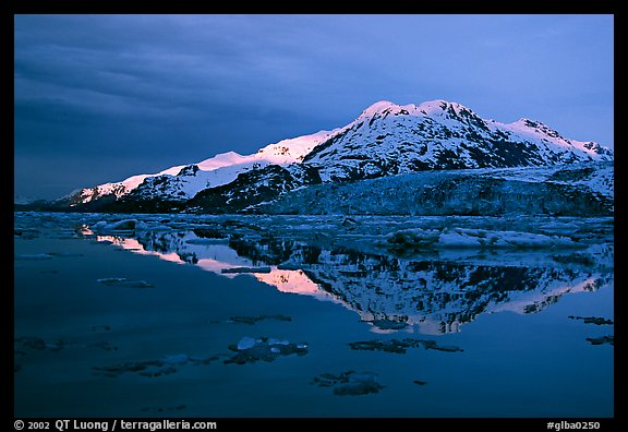 Mt Parker reflected in West arm. Glacier Bay National Park (color)