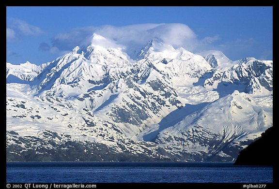 The Fairweather range, West arm. Glacier Bay National Park (color)