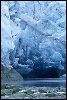 Ice cave at the base of Lamplugh glacier. Glacier Bay National Park ( color)