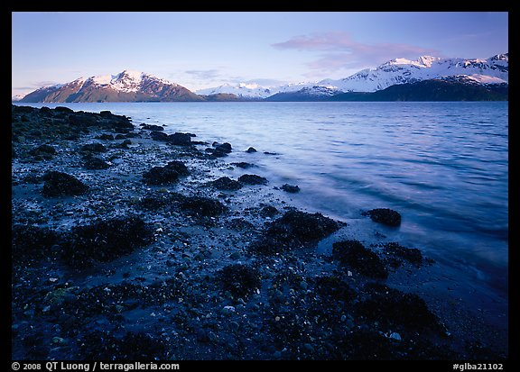 West Arm, sunset. Glacier Bay National Park (color)