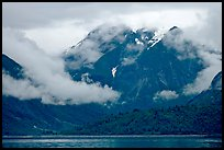 Peaks and low rain clouds. Glacier Bay National Park ( color)