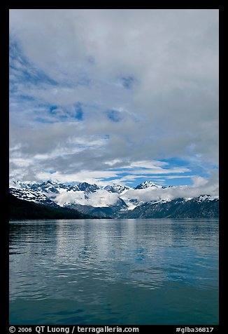Fairweather range with clearing clouds. Glacier Bay National Park (color)