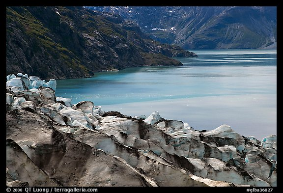 Lamplugh glacier and turquoise bay waters. Glacier Bay National Park (color)