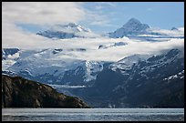 Rugged peaks of Fairweather range rising abruptly above the Bay. Glacier Bay National Park ( color)