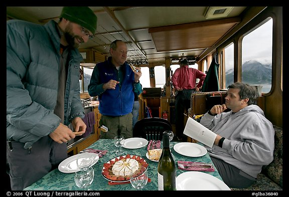 Appetizer served in the main cabin of the Kahsteen. Glacier Bay National Park (color)