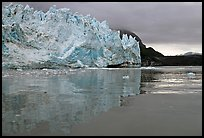 Margerie Glacier reflected in Tarr Inlet. Glacier Bay National Park, Alaska, USA.