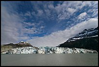 Wide face of Lamplugh glacier. Glacier Bay National Park, Alaska, USA. (color)