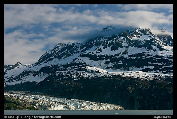 Mt Cooper and Lamplugh glacier, late afternoon. Glacier Bay National Park (color)