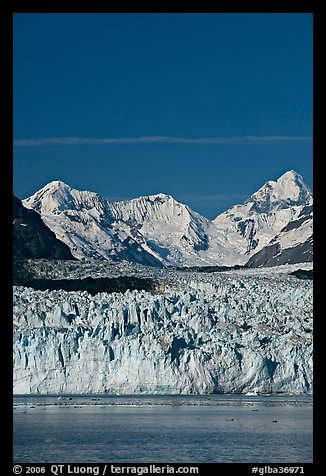 Front of Margerie Glacier and Fairweather range. Glacier Bay National Park (color)