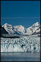 Front of Margerie Glacier and Fairweather range. Glacier Bay National Park, Alaska, USA. (color)