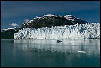Wide front of Margerie Glacier and Tarr Inlet. Glacier Bay National Park, Alaska, USA. (color)