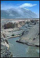 Convergence of the Lethe river and and Knife river, Valley of Ten Thousand smokes. Katmai National Park ( color)