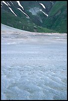 Ash formation on the floor of the Valley of Ten Thousand smokes, below the green hills. Katmai National Park ( color)