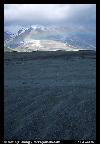 Ash formation, Valley of Ten Thousand smokes. Katmai National Park (color)