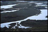 Patterns of melting snow, Valley of Ten Thousand smokes. Katmai National Park ( color)