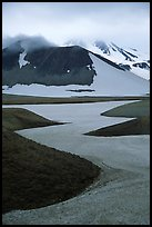 Snow is still present in early summer, Valley of Ten Thousand smokes. Katmai National Park ( color)