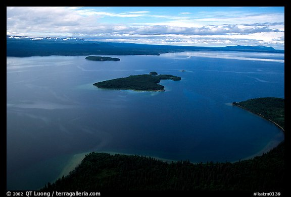 Aerial view of Naknek lake. Katmai National Park (color)