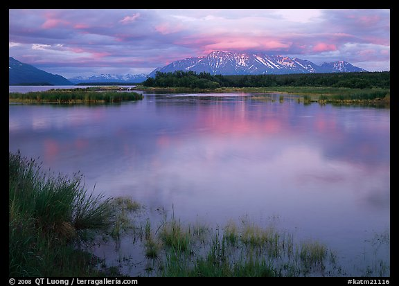 Sunset on the Brooks river. Katmai National Park (color)