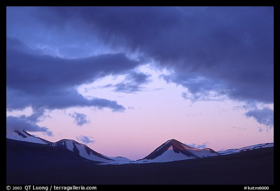 Mt Meigeck, Valley of Ten Thousand Smokes, sunset. Katmai National Park (color)