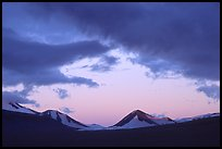 Mt Meigeck, Valley of Ten Thousand Smokes, sunset. Katmai National Park, Alaska, USA. (color)