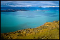 Aerial View of Naknek Lake in autumn. Katmai National Park ( color)