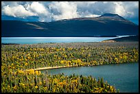 Aerial View of Lake Brooks and Naknek Lake. Katmai National Park ( color)