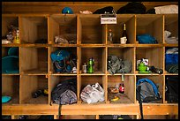 Inside food Cache, Brooks Camp. Katmai National Park ( color)