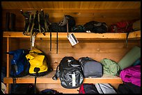Inside Gear Cache, Brooks Camp. Katmai National Park ( color)