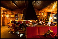 Inside Brooks Lodge. Katmai National Park ( color)
