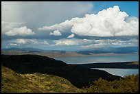 Clouds and shadows above Naknek Lake. Katmai National Park ( color)