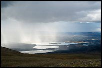 Cloud and rain over lakes. Katmai National Park ( color)